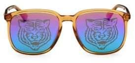 Gucci Men's 145MM Tiger Lens Sunglasses - Beige