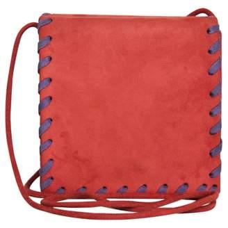 Saint Laurent Red Suede Clutch bag