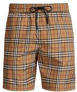 Burberry Vintage Check Swim Shorts - Mens - Camel