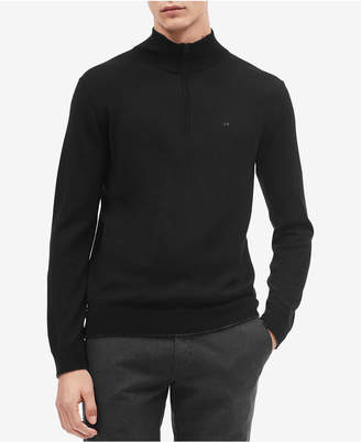 Calvin Klein Men's Quarter-Zip Merino Wool Sweater