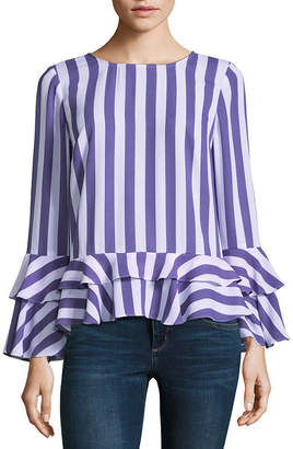 A.N.A Tiered Ruffle Hem Blouse