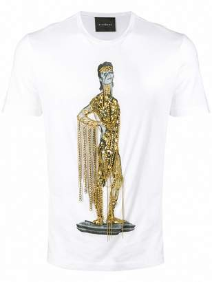 John Richmond embellished Bowie T-shirt