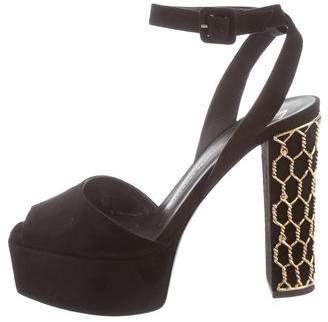 Giuseppe Zanotti Embellished Suede Sandals