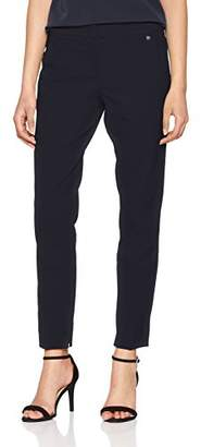 Tom Tailor Women's Structured Business Pants Trouser Real Navy Blue 6593, ((Size: 38)
