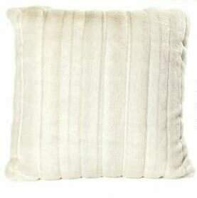 Ital Art Design Fancy Mink Faux Fur Throw Pillow Ital Art Design
