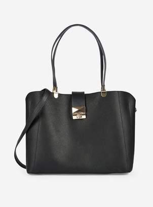 Dorothy Perkins Womens Black Twistlock Tote Bag