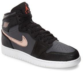 Boy's Nike 'Jordan 1 Retro High' Sneaker $95 thestylecure.com
