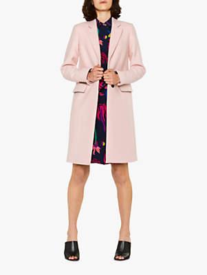 Paul Smith Epsom Wool Blend Coat, Pink