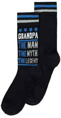George Grandpa Slogan Socks