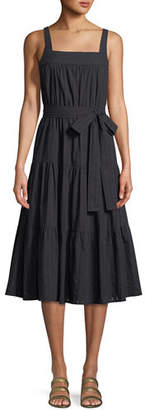 MICHAEL Michael Kors Tiered Sleeveless Midi Dress