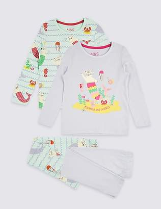Marks and Spencer 2 Pack Pure Cotton Pyjamas (1-7 Years)