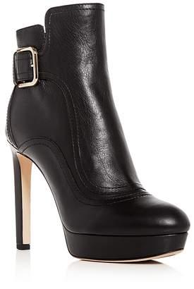 Jimmy Choo Women's Britney 115 Leather High-Heel Platform Booties