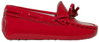Tod's Patent Leather Loafers With Lacing