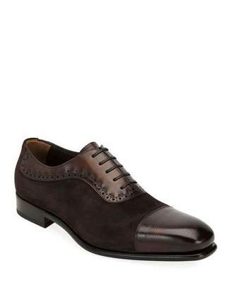 Salvatore Ferragamo Men's Two-Tone Derby Dress Shoes