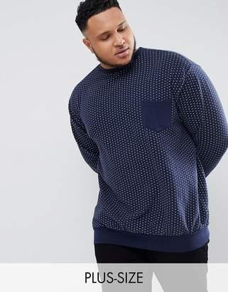 Replika Plus Sweatshirt With Polka Dot And Contrast Pocket
