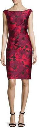 St. John Collection Ombre Peony Jacquard Off-The-Shoulder Dress, Paprika/Multi $1,295 thestylecure.com