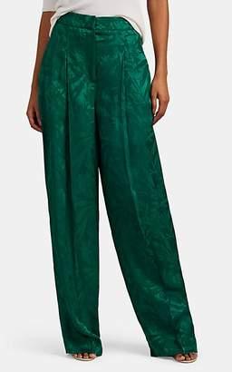 Pt01 Women's Ada Floral-Jacquard Wide-Leg Pants - Green