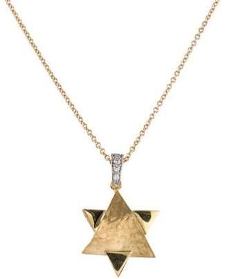 Reiss I. 14K Diamond Star of David Pendant Necklace