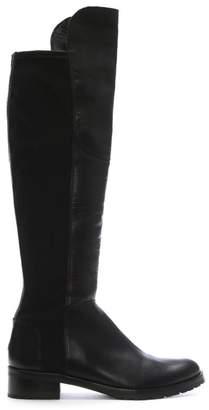 Kennel + Schmenger Kennel & Schmenger Black Zafferano Womens Flat Knee Boot