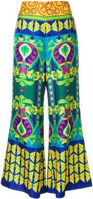 Gucci Psychedelic flower cropped trousers