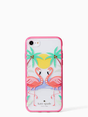 Kate Spade jeweled flamingos iPhone 7 & 8 case