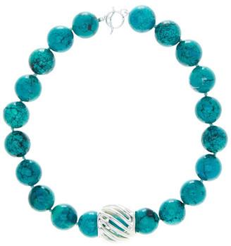 SIMON SEBBAG Turquoise Bead & Barrel Necklace $248 thestylecure.com