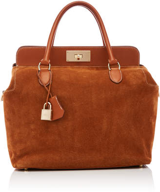 at MODA OPERANDI Hermes Vintage by Heritage Auctions 33cm Gold Doblis Suede  and Swift Leather Toolbox d0b93b3b4c6ee