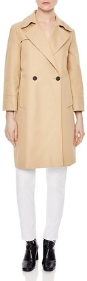 Sandro Wave Double-Breasted Coat $595 thestylecure.com