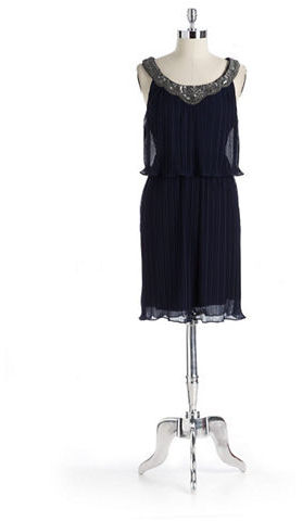 DONNA RICO Beaded Collar Dress