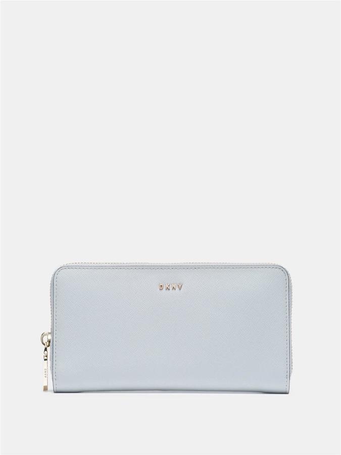 DKNYSaffiano Large Zip Around Wallet
