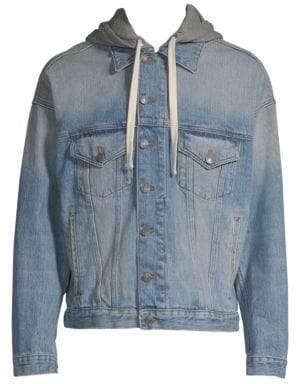 The Kooples Hooded Denim Jacket