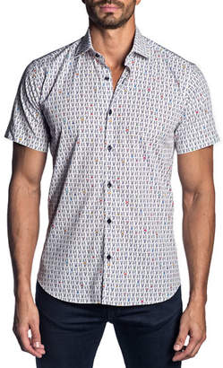 Jared Lang Men's Graphic-Print Short-Sleeve Sport Shirt