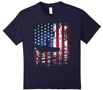 USA Flag Fishing shirt Patriotic American Fishing T-Shirt