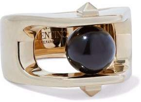 Valentino Gold-Tone Stone Ring