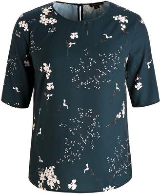 dd2986614d2 Chicwe Women s Floral Printed Plus Size Tunic Blouse with Keyhole Neck 2X