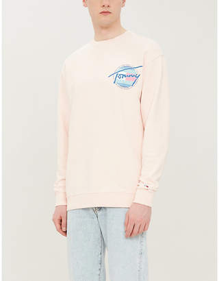 Tommy Jeans Logo-print cotton sweatshirt