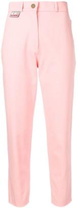 GCDS raw-hem cropped trousers