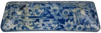 One Kings Lane Vintage Staffordshire Blue Knife Rest - C. 1820