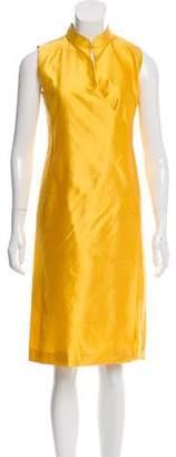 Max Mara Silk Sleeveless Midi Dress