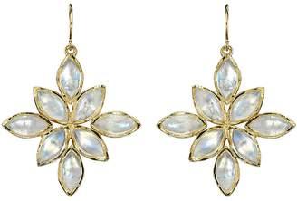 Irene Neuwirth Marquise Rainbow Moonstone Flower Earrings