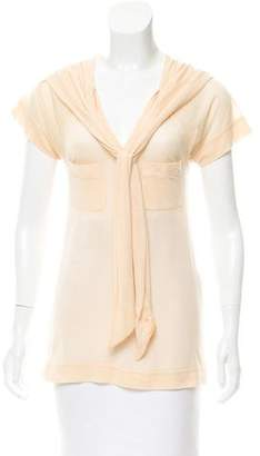 Marc by Marc Jacobs Semi-Sheer V-Neck Top