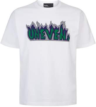 Kolor Uneven Flame Applique T-Shirt