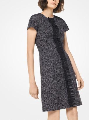 Michael Kors Tweed Ruffled Dress