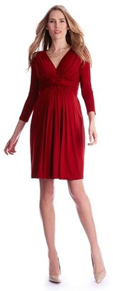 Women's Seraphine Jolene Front Knot Maternity Dress $95 thestylecure.com