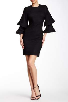 Gracia Structured & Tiered Bell Sleeve Dress