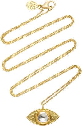 Amrapali Kundan Vintage Diamond And 18K Gold Evil Eye Pendant Necklace