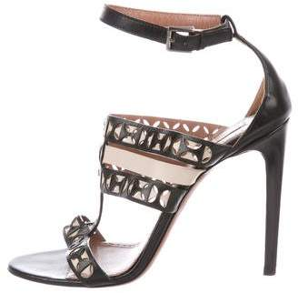 Alaia Leather Multi-Strap Sandals