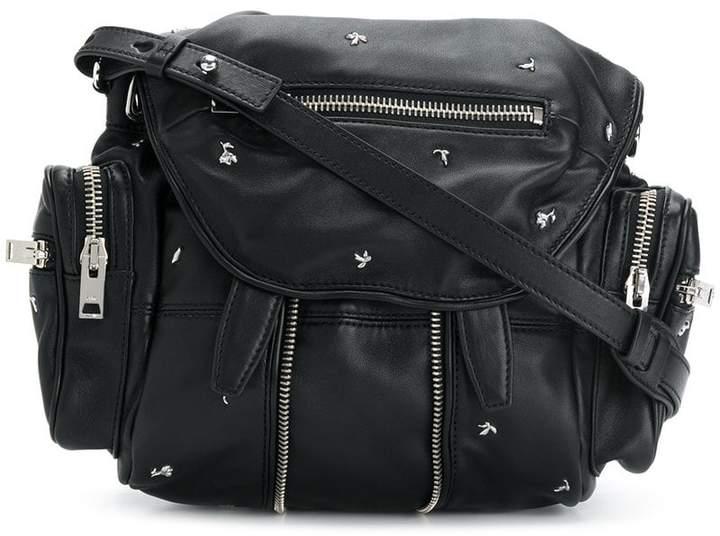 Alexander Wang rose studded mini Marti backpack