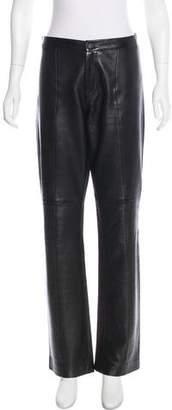 Ralph Lauren Leather Wide-Leg Pants