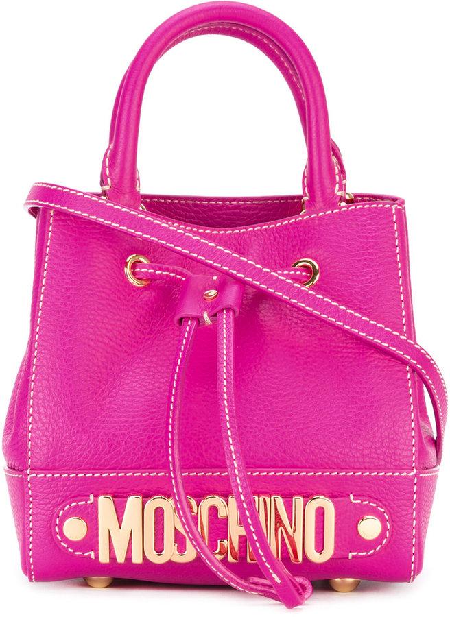 MoschinoMoschino logo plaque cross-body bag